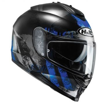 HJC IS-17 Shapy Blue MC2SF Full Face Motorcycle Helmet Free Pinlock